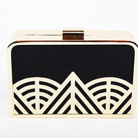2015 New French Collection Metal Clutch Spider Woven Purse