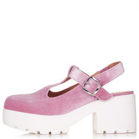 FUNDER T-Bar Shoes - Nude