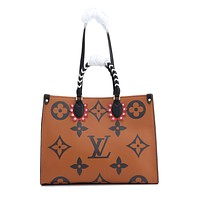 LV Louis Vuitton M45373 OnTheGo Women's Tote Bag Handbag Shopping Leather Tote Crossbody Satchel 41.0x 34.0 x 19.0CM