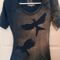 The Hunger Games Mockingjay silhouette t-shirt