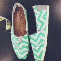 Mint Chevron Women's Toms