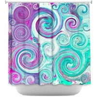 DiaNoche Designs Shower Curtains by Sylvia Cook Stylish, Decorative, Unique, Cool, Fun, Funky Bathroom - Flow