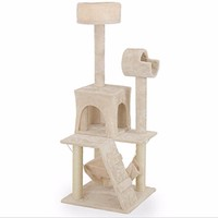 4 Tier Cat Tree with Hammock and Beds
