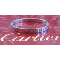 Cartier 18Kt Love Bracelet White Gold Size 16 EM3853 COMPLETE PACKAGE