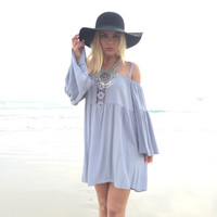 Cambria Cove Off Shoulder Dress In Periwinkle