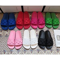 Wearwinds GUCCI Fashion Hot Sale Hollow Letter Casual Couple Slippers