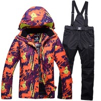New Arrival Winter Men's Ski Jacket Suits Outdoor Lovers Snow Coat Thermal Skiing Pants Waterproof Breathable Skiwear For Women