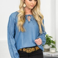 Brandy Love Distressed Denim Top