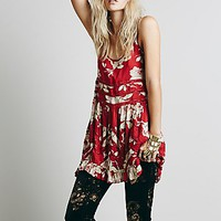 Intimately Womens Printed Voile and Lace Slip