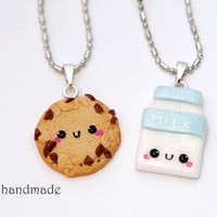 Kawaii Cookie and Milk Best Friends Necklaces