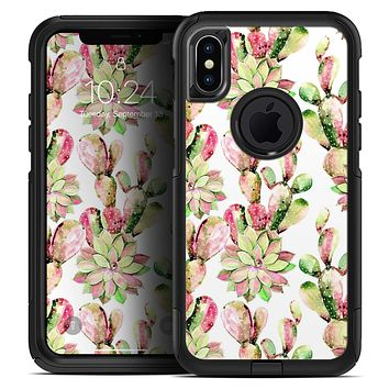 Watercolor Cactus Succulent Bloom V2 - Skin Kit for the iPhone OtterBox Cases