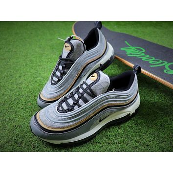 Nike Air Max 97 Ultra SE PRM Gray Wool Bullet Sport Shoes Sneaker 924452-001