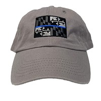 Maryland Flag Blue Line (Silver) / Baseball Hat