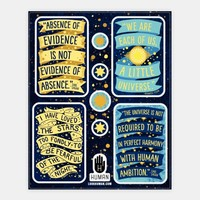 Inspiring Science Quote Stickers
