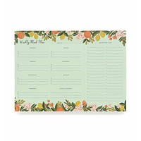 RIFLE PAPER EVERYDAY MEAL PLANNER CITRUS FLORAL