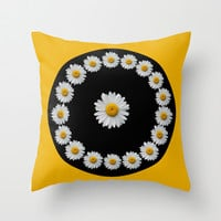 DAISY TIME Throw Pillow by catspaws