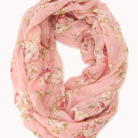 Garden Floral Infinity Scarf