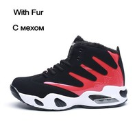 Men Boots Ankle Autumn Warm Fashion High Top Sneakers
