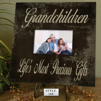 "GC: 10x10"" Holds 4x6"" Photo Gift for Grandparents, Grandma gift, Grandpa gift, Grandchildren Photo Frame, Grandchildren Picture Frame"
