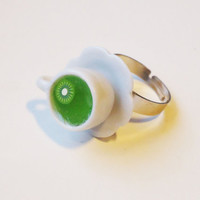 GREEN KIWI TEA - adjustable ring