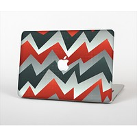 """The Abstract Red, Grey and White ZigZag Pattern Skin for the Apple MacBook Air 13"""""""