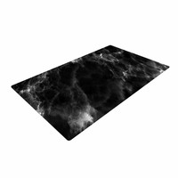 "Chelsea Victoria ""Black Marble"" Modern White Woven Area Rug"