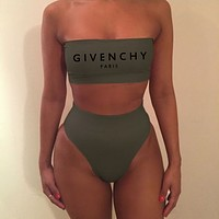 shosouvenir GIVENCHY High Waisted Two Piece Bandeau Bikini