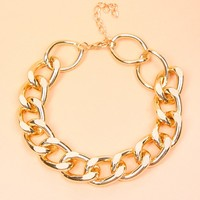 GOLD THICK CHAIN LINK BRACELET
