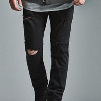 Bullhead Denim Co. Black Ripped Skinny Jeans - Mens Jeans - Black