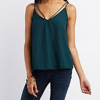 STRAPPY T-BACK TANK TOP