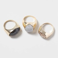 Semi-Precious Ring Pack - Topshop