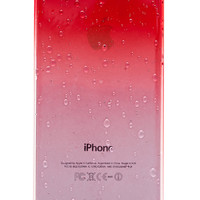 Red Clear Waterdrop Hard Case For iPhone 5 & 5S