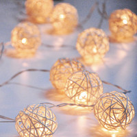 35-Pc. Rattan Party Lights