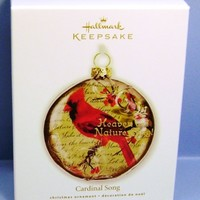 2010 Cardinal Song Hallmark Retired Ornament