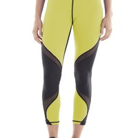 Michi Hydra Crop Acid Yellow | High End Leggings