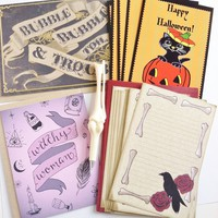Miss Sinister's Halloween parcel of extraordinary treasures stationery kit