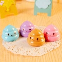 Coco*Store 4pcs Funny Poop Shaped Pencil Sharpeners For Students Mini Double Hole Pencils Knife