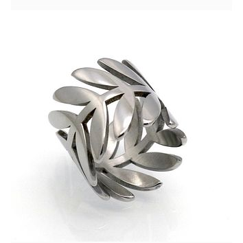 Delicate Leaf Branch Ring For Women