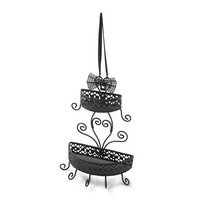 Bling Bow Double Basket Hanging Jewelry Holder | Claire's
