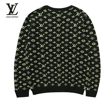 LV Louis Vuitton Classic Loose Casual Print Sweater 1#
