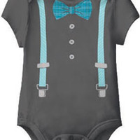 Young Gent Suspender & Bow Tie One Piece