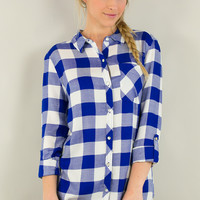 Chic Country Checkered Button Down Shirt