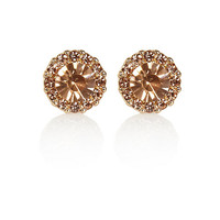 River Island Womens Pink surround sparkle stud earrings