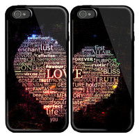 Love Words Custom couple Case for iPhone 4 and iPhone 5 case.