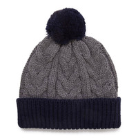 Colorblocked Mixed Knit Beanie