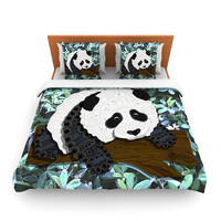 "Art Love Passion ""Panda"" Black White Fleece Duvet Cover"