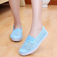 Fashion hollow-out pure color flat shoes