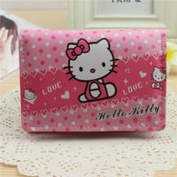 2016 Hot Fashion hello kitty girls Women Wallets handbag solid PU Leather bag Lady brand children student Cash card coin Purse