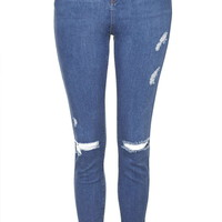 TALL MOTO Blue Rip Jamie Jeans - Topshop