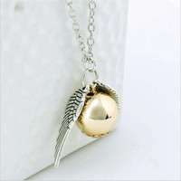 New Fashion 'Harry Potter' Golden Snitch Pendant Necklace (With Thanksgiving&Christmas Gift Box)= 1946665924